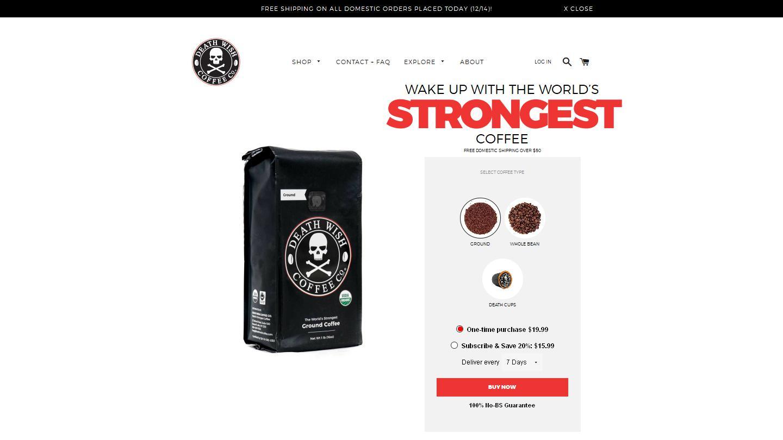deathwishcoffee.com