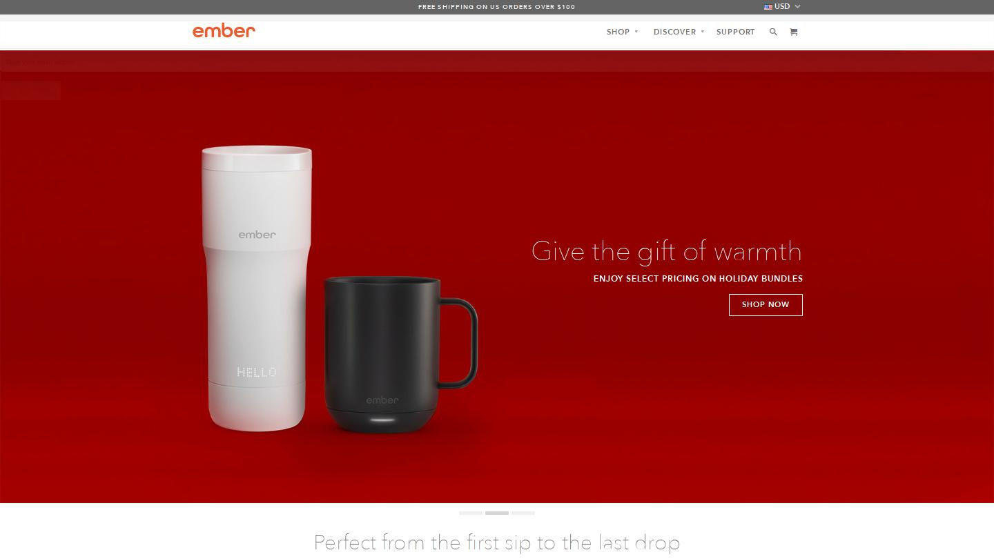 f51594742ec Enjoy your coffee or tea at the perfect temperature from the first sip to  the last drop with Ember®