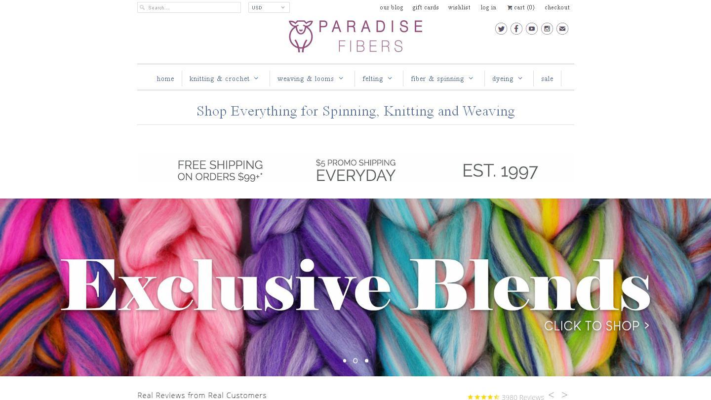 paradisefibers.com