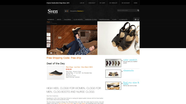 svensclogs.com