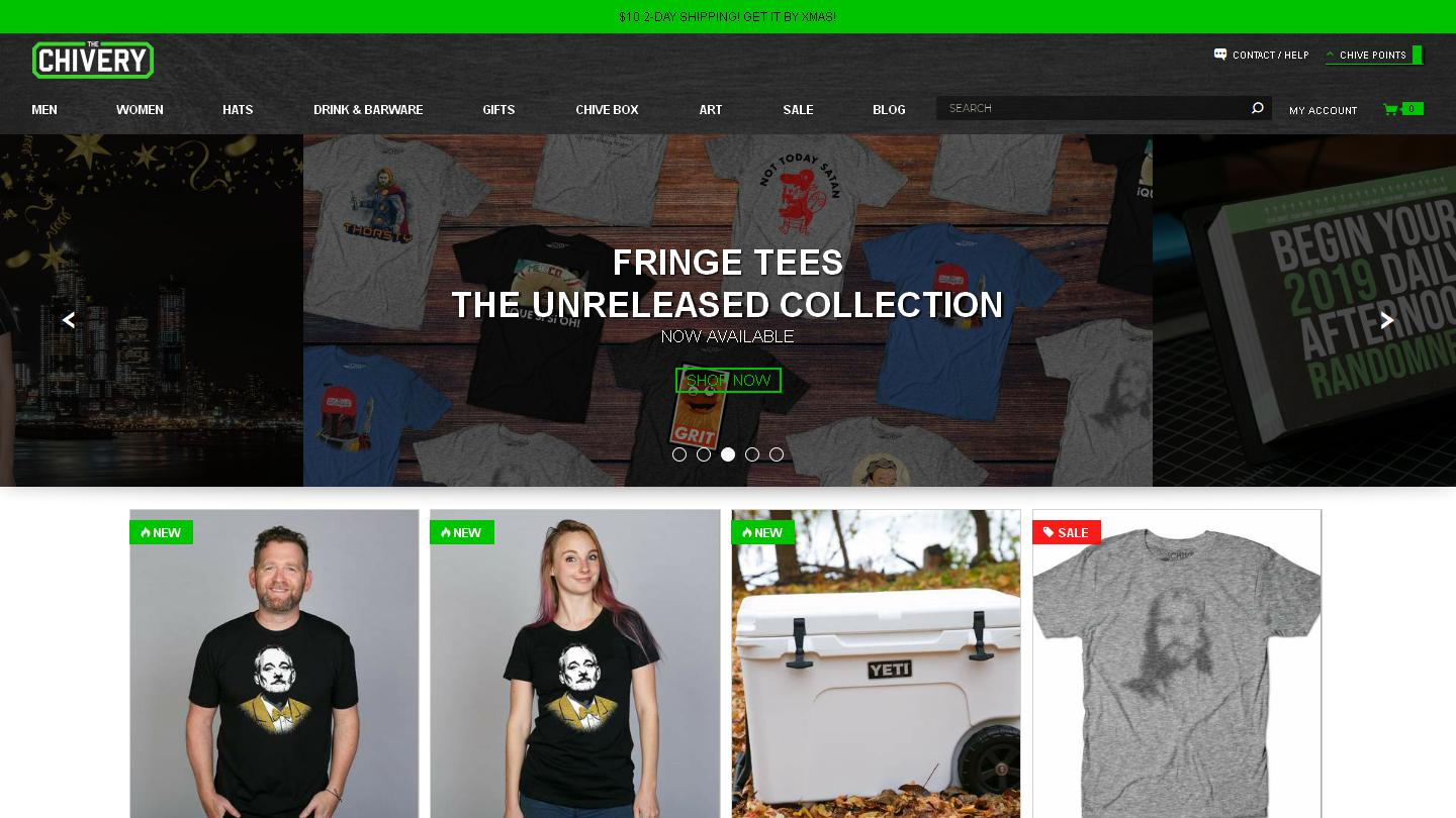 cb3d7fb0e533 The Chivery is the official store of theCHIVE, and is the only place to buy  high quality, authentic Chive products and other great shirts, ...